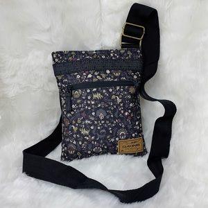 Dakine Black Floral Paisley Crossbody